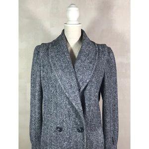 Jackets & Blazers - Vintage Black and White Chevron Wool Coat Sz 10